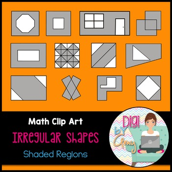 Irregular Shapes Shaded Region Clip Art