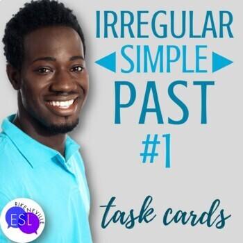 Irregular Simple Past #1 (Task Cards)