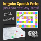 Irregular Spanish Verbs Review Dice Game