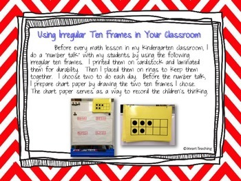 Irregular Ten Frames: Build Number Sense