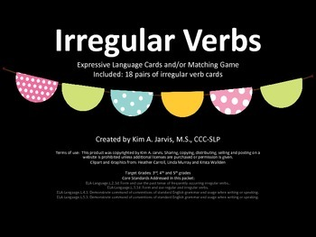 Irregular Verb Activity