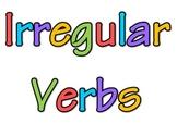 Irregular Verb Anchor Chart