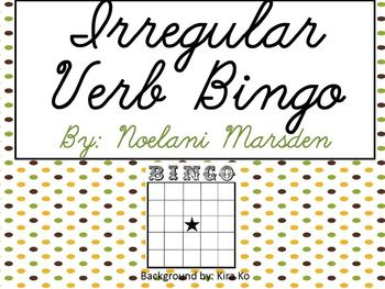 Irregular Verb Bingo- Journey's