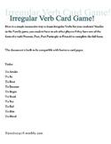 Irregular Verb Card Game