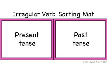 Irregular Verb Card Sort