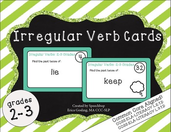 Irregular Verb Task Cards- 2-3rd Grade {common core aligned!}