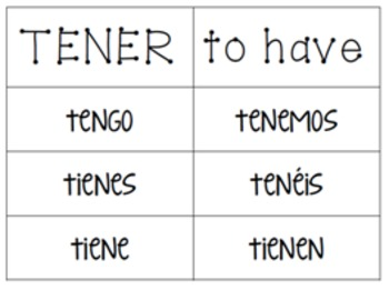 Irregular Verb Charts (with meanings & vosotros)