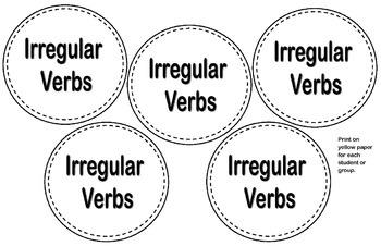 Irregular Verb Craftivity
