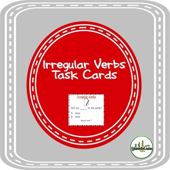 Irregular Verb Forms Task Cards