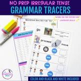 Irregular Verb Grammar Tracers - Distance Learning Resource