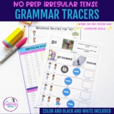 Irregular Verb Grammar Tracers - Distance Learning Resource