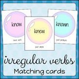 Irregular Verb Matching Cards - Pastel Bubbles