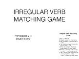 Irregular Verb Matching Game #2