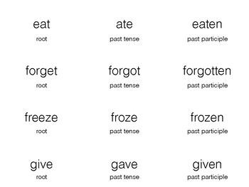 Irregular Verb Matching Game