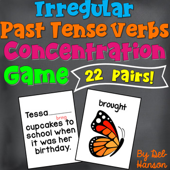 Irregular Verb Memory Game