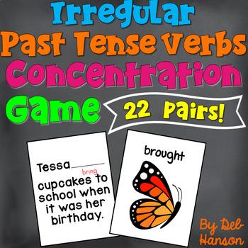 Irregular Verb Memory Game