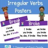 Irregular Verbs Posters - Kids Theme