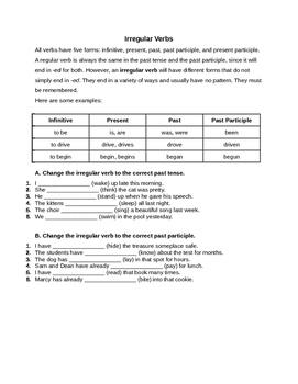 Irregular Verb Practice