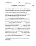 Irregular Verb Quiz (6)