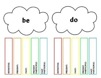 Irregular Verb Rainbows