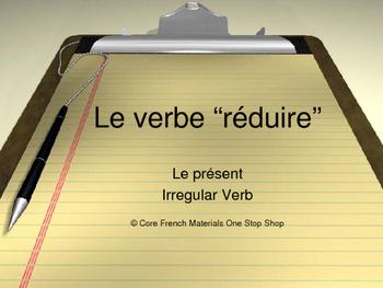 Irregular Verb Reduire Lesson