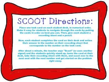 Irregular Verb Scoot Task Cards