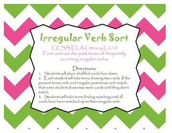 Irregular Verb Sort