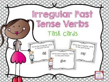 Irregular Verb Tenses Task Cards