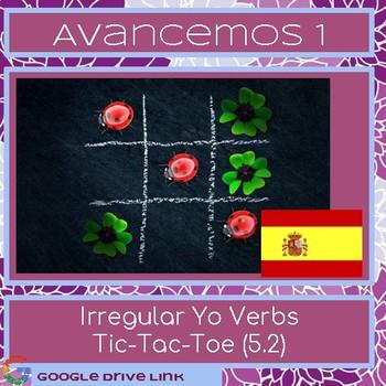 Irregular Yo Tic-Tac-Toe: Avancemos 1 5.2