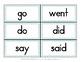 Irregular Verb Word Sort and Recording Sheet