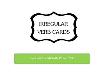 Irregular Verb cards 2