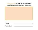 Irregular Verb of the Week