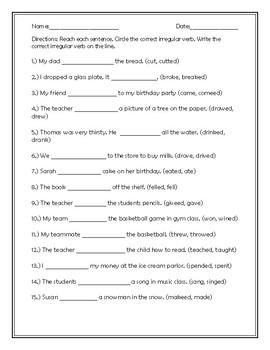 Irregular Verbs #1