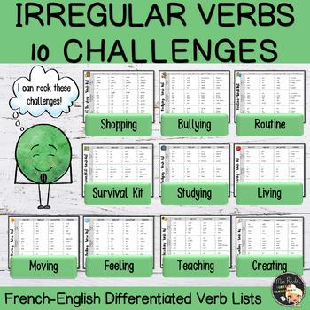 Irregular Verbs 10 sets bundle