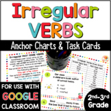 Irregular Verbs   Irregular Past Tense Verbs List & Task Cards w/ Digital Option