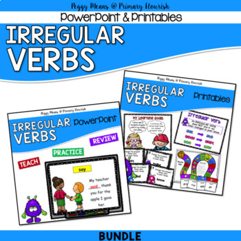 Irregular Verbs PowerPoint, Posters, Printables, Games {Bundle}