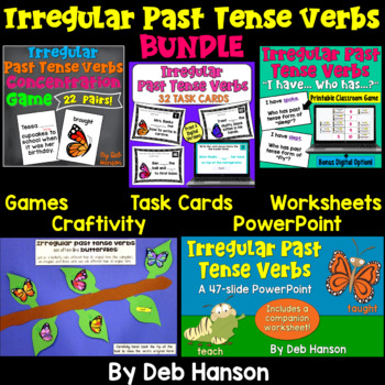 This bundle includes many engaging activities for teaching students about irregular past tense verbs!