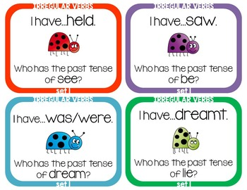 Irregular Verbs - I Have Who Has Game - Set 1