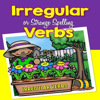 Irregular Verbs - Posters and Word Cards and Mini Book (His and Her)
