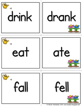 Irregular Verbs - Posters, Word Cards and Mini Book