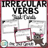Past Tense Irregular Verbs in Sentences Task Cards - L.2.1.D