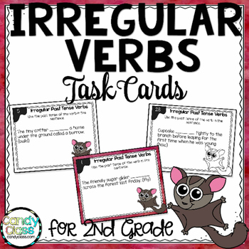 Past Tense Irregular Verbs in Sentences Task Cards - L.2.1.D
