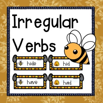 Irregular Verbs 3 sets of Center cards and more