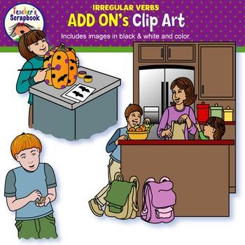 Irregular Verbs ADD ON's Clip Art