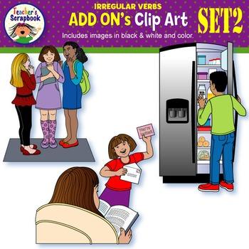 Irregular Verbs ADD ONs Clip Art Set 2