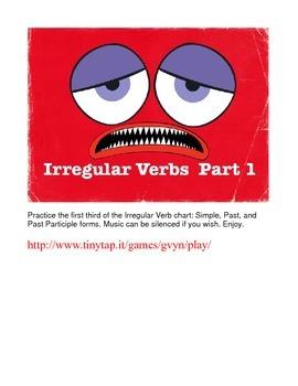 Irregular English Verbs APP, Part 1