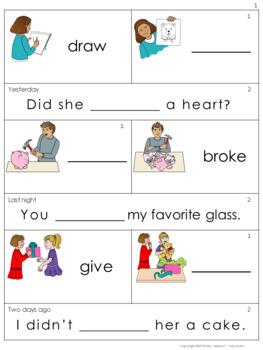 Irregular Verbs Activity Cards