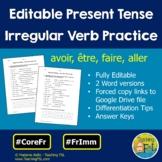 French Irregular Verbs Avoir, Etre, Aller, Faire Present Tense Worksheets