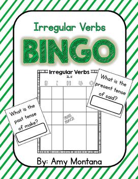 Irregular Verbs Bingo
