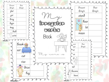 Irregular Verbs Book - Back to school - #BTS2018
